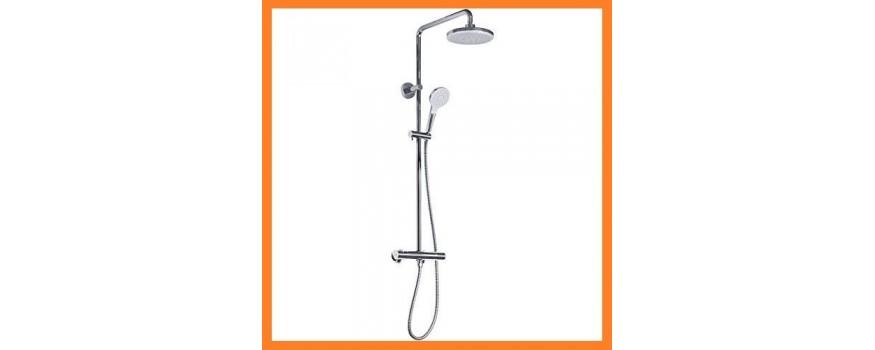 Sen tắm TOTO TBW01403J gồm một sen cây và một sen cầm tay, có khống chế nhiệt độ