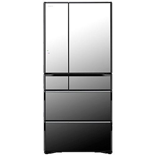 Tủ lạnh Hitachi R-WX6700G-X (đen gương) với 6 cửa có ngăn hút chân không