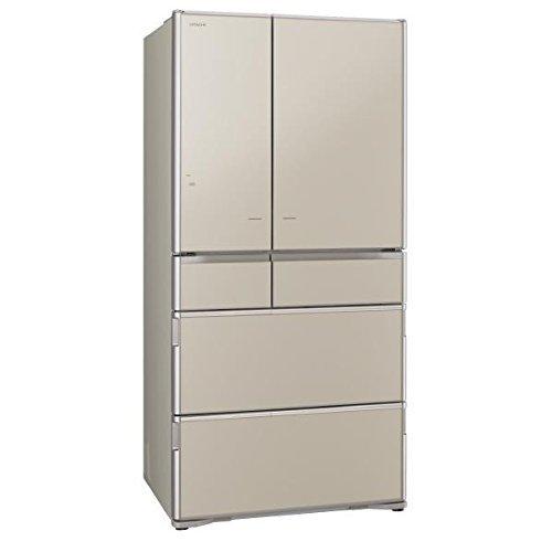 Tủ lạnh HITACHI R-X7300F-XN (vàng) 6 cửa hút chân không cửa điện trợ lực
