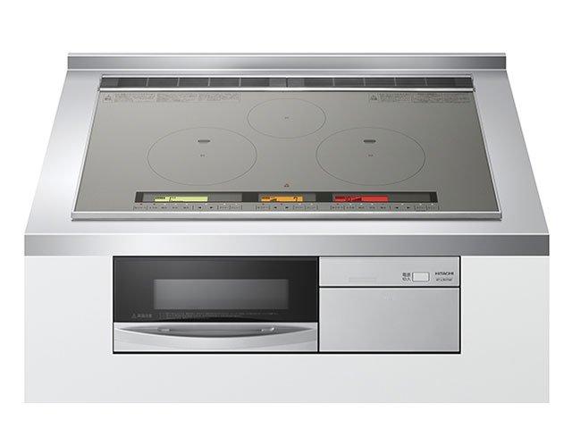 Bếp từ Hitachi HT-L9HTWF gồm 3 bếp từ IH, 1 lò nướng
